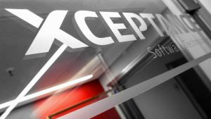 Xceptance logo in our office